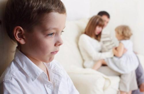 Los celos en los niños